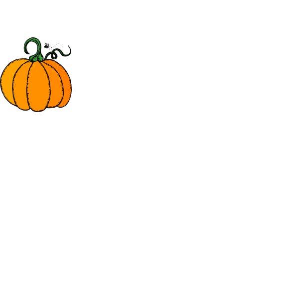 Pumpkins Black And White PNG image