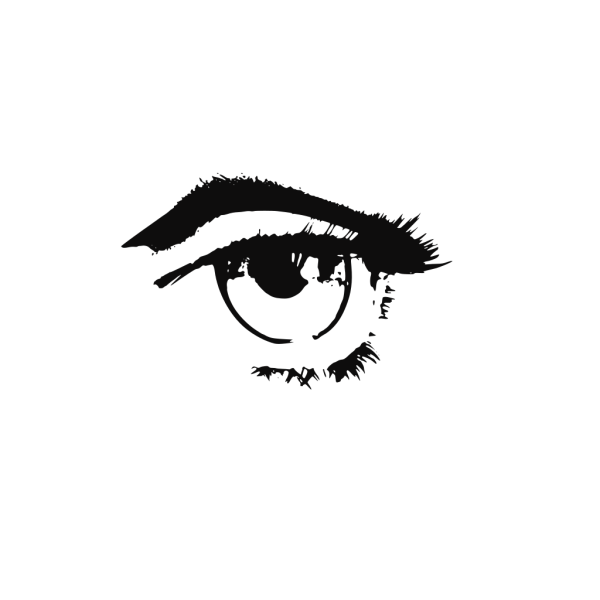 Human Eye Black And White PNG images