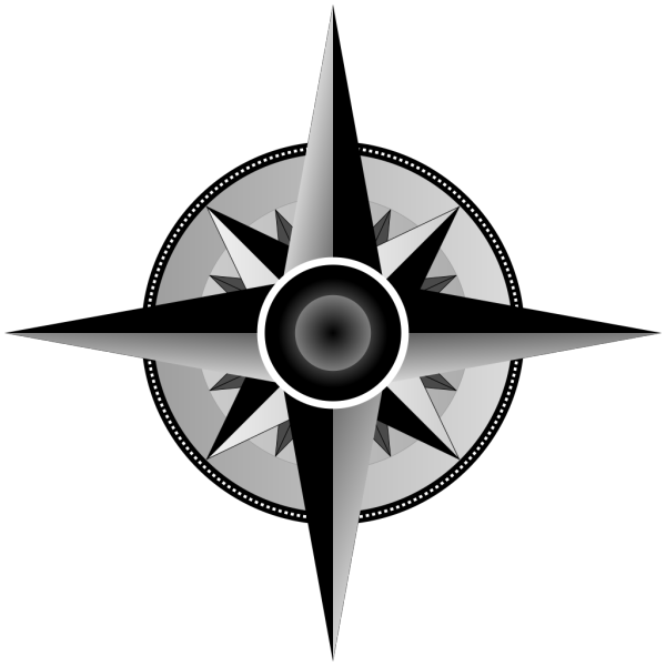Black And White Compass PNG Clip art