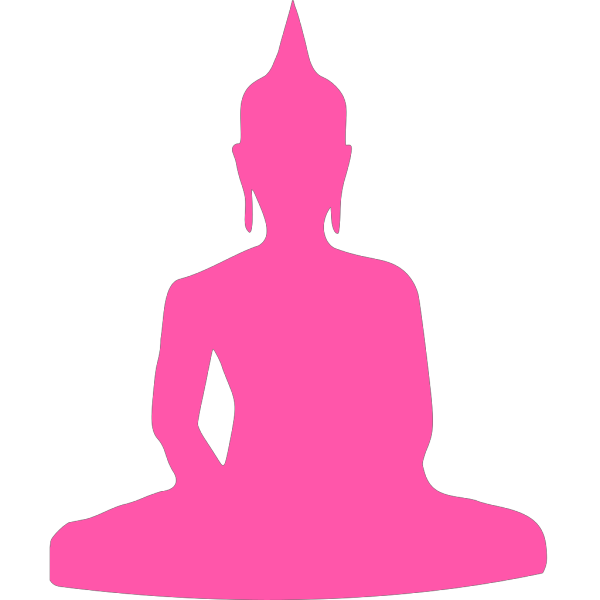 Silhouette Of Buddha Sitting PNG Clip art