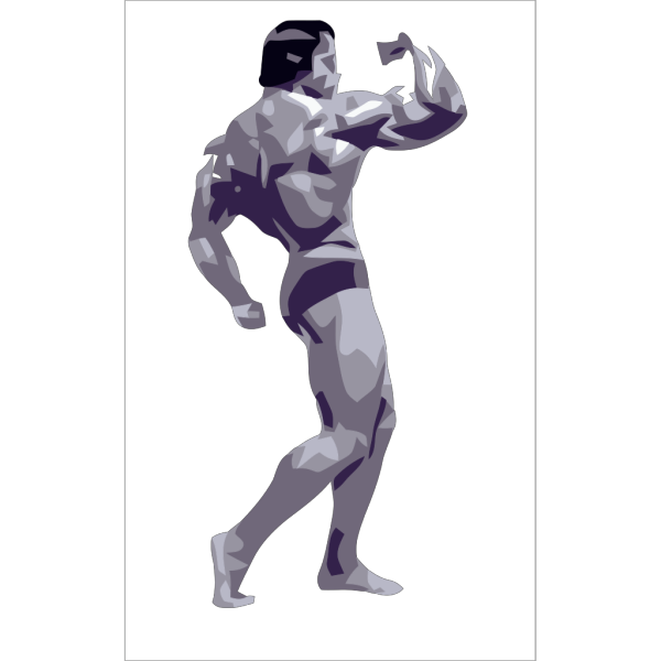 Posing Body Builder PNG icons