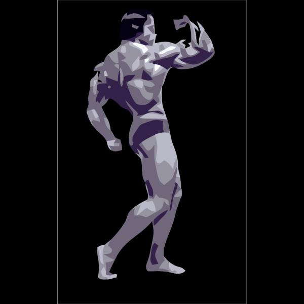 Posing Body Builder PNG Clip art