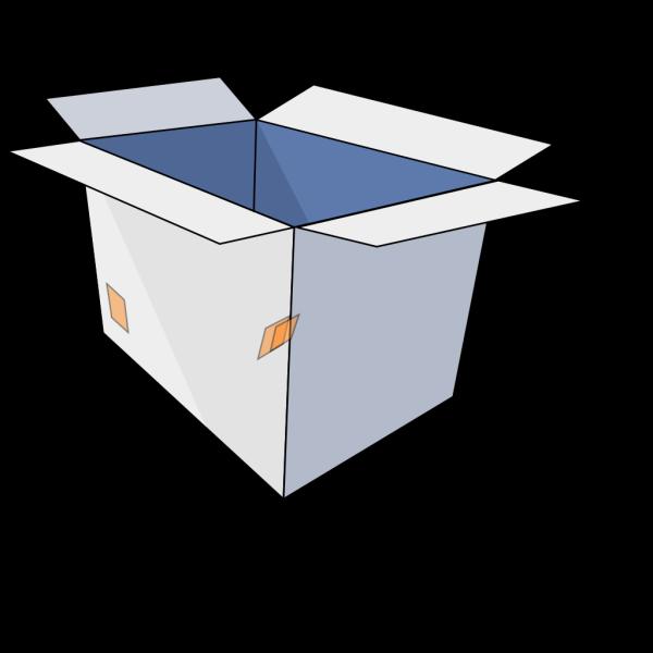 3d Empty Open Box PNG images
