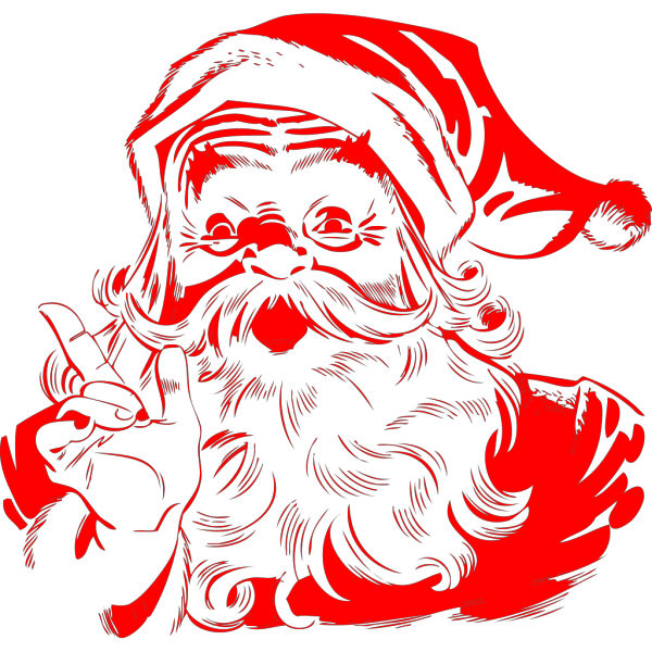 Santa And Reindeer PNG Clip art