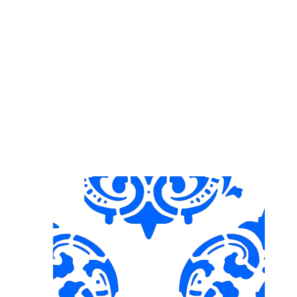 Victorian Pattern Blue PNG Clip art
