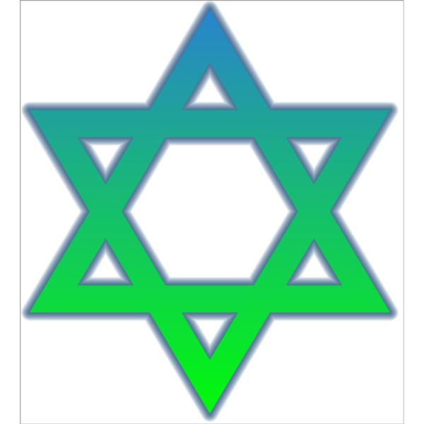 Star Of David Colored PNG Clip art