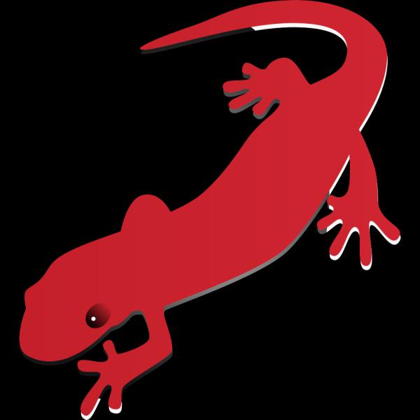 Red Digital Salamander PNG Clip art