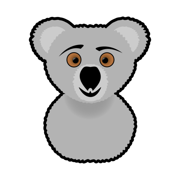 Cartoon Koala Head PNG images
