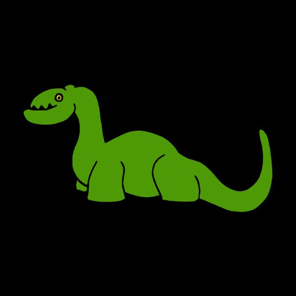 Simple Green Dinosaur Art PNG Clip art