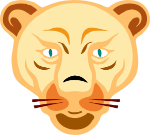 Another Digital Lion Face PNG Clip art