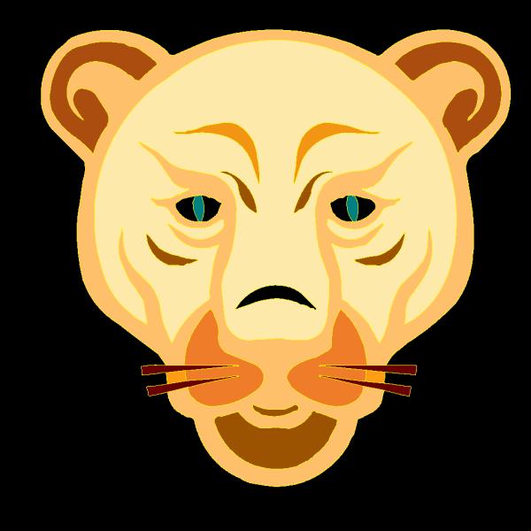 Digital Lion Face PNG Clip art