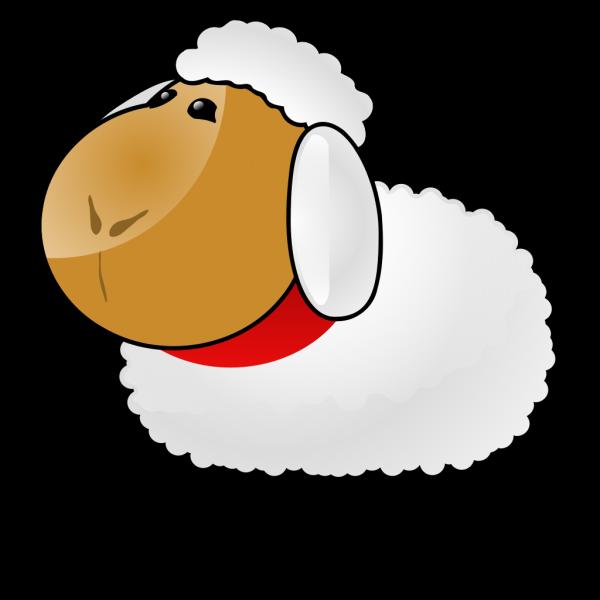 Fuzzy Cartoon Sheep PNG Clip art