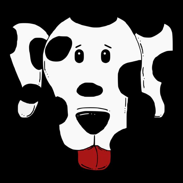 Cartoon Dalmatian Head PNG Clip art