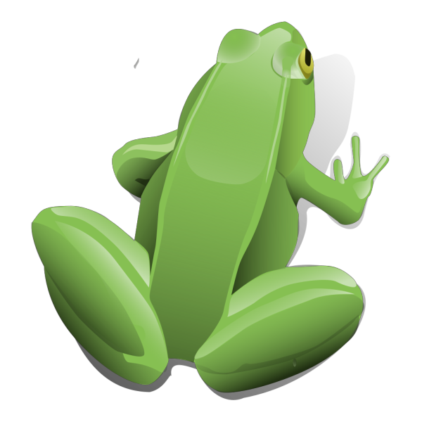 Green Sitting Frog PNG Clip art