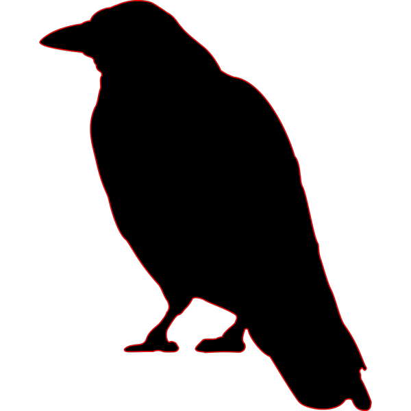 Crow Silhouette PNG Clip art