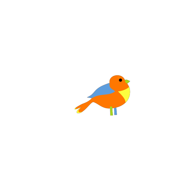 Colorful Little Bird PNG Clip art