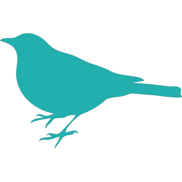 Dusty Blue Bird Profile PNG images