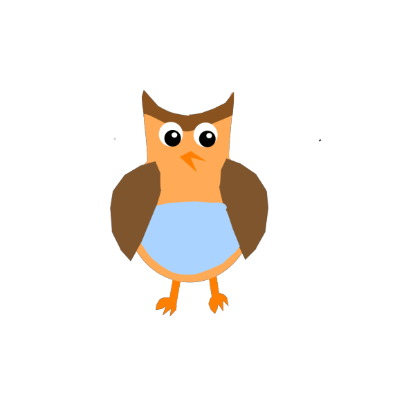 Cartoon Owl Sitting On A Book PNG Clip art
