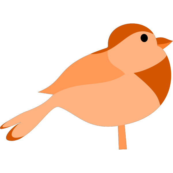 Simple Cartoon Bird PNG Clip art