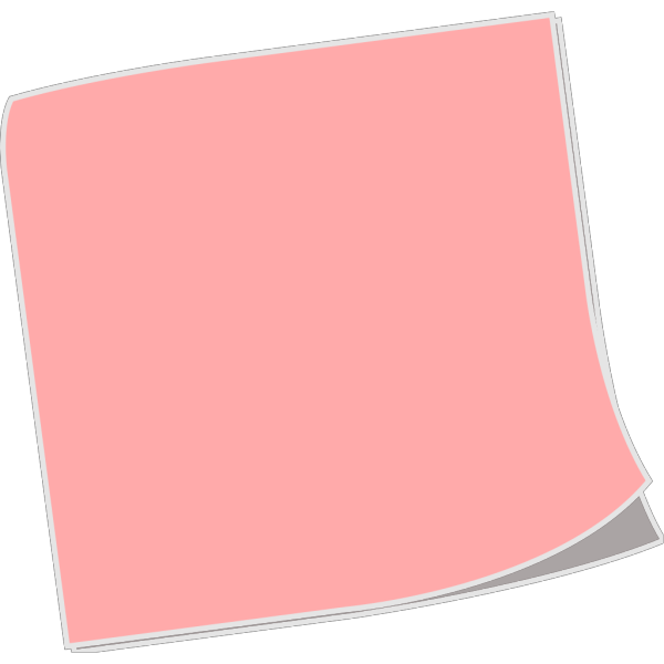 Blank Sticky Note PNG icon