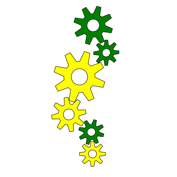 Cartoon Gears PNG images