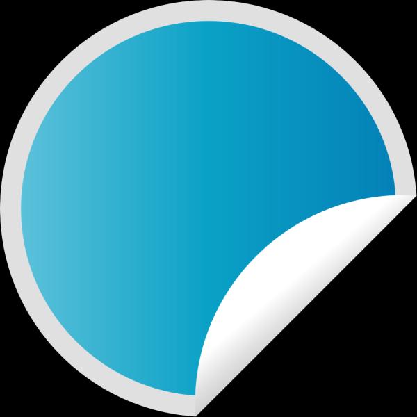 Peeling Blue Sticker PNG Clip art