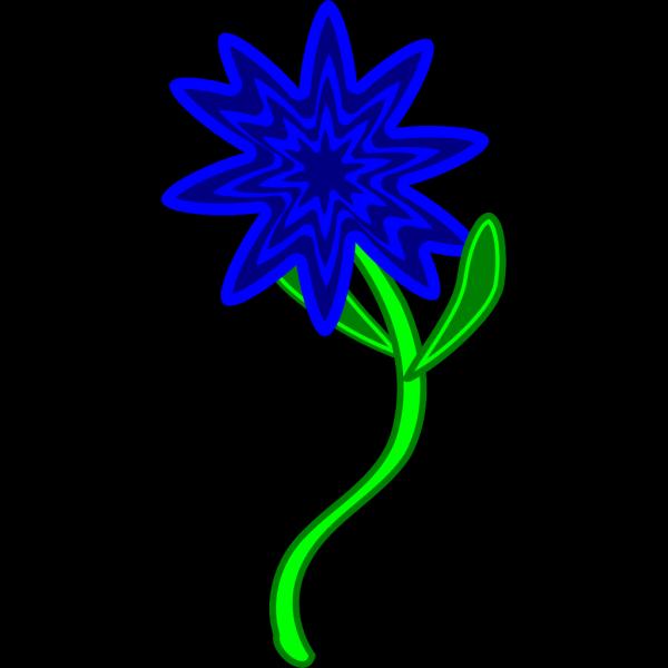 Blue Flower Design PNG Clip art