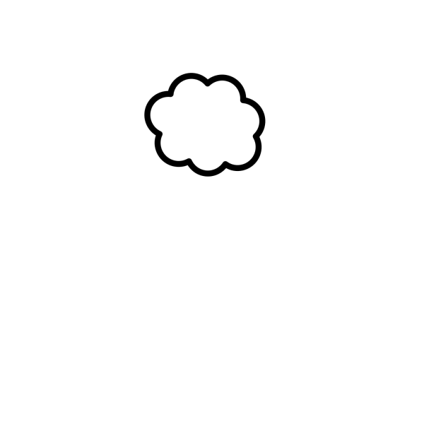 Blue Cloud PNG icon