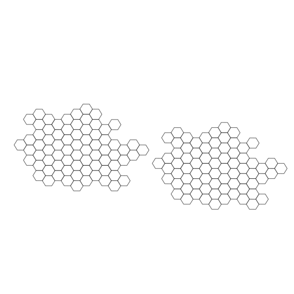 3d Hexagon PNG Clip art