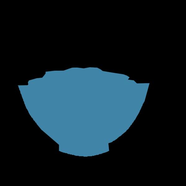 Blue Bowl 2  PNG Clip art