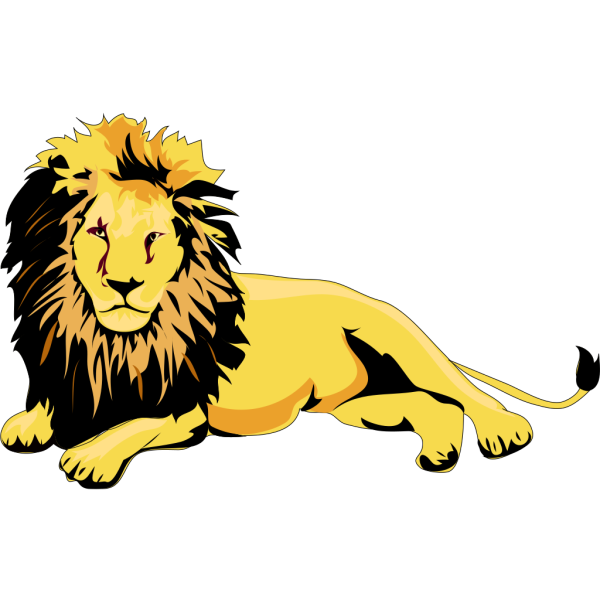 Lounging Lion PNG Clip art