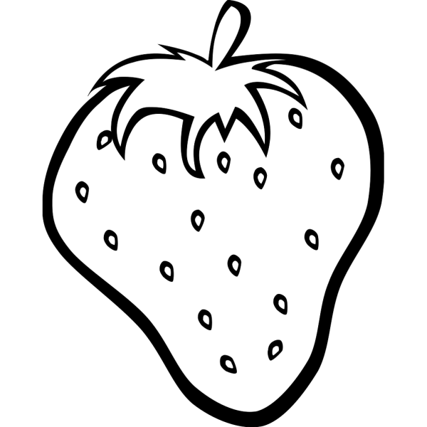 Outline Strawberry PNG image