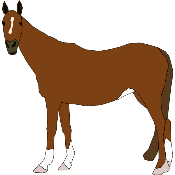 Staring Horse PNG Clip art