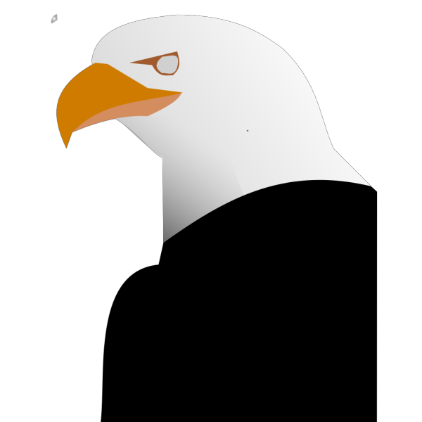 Digital Eagle Head Art PNG icon