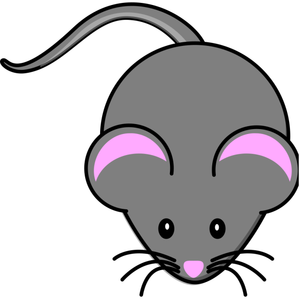 Simple Gray Mouse PNG Clip art