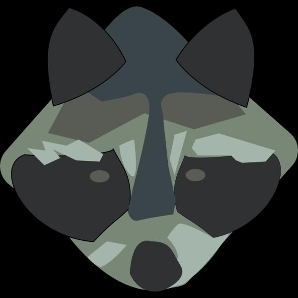 Racoon Face Art PNG Clip art