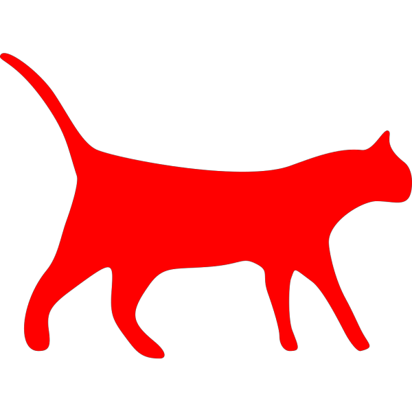 Stylized Kitty Cat PNG Clip art