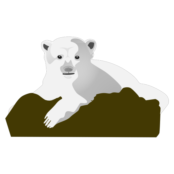 Polar Bear On A Rock PNG images