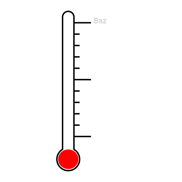 Blank Thermometer PNG images