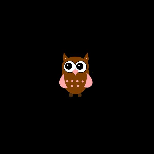 Pink Owl PNG Clip art