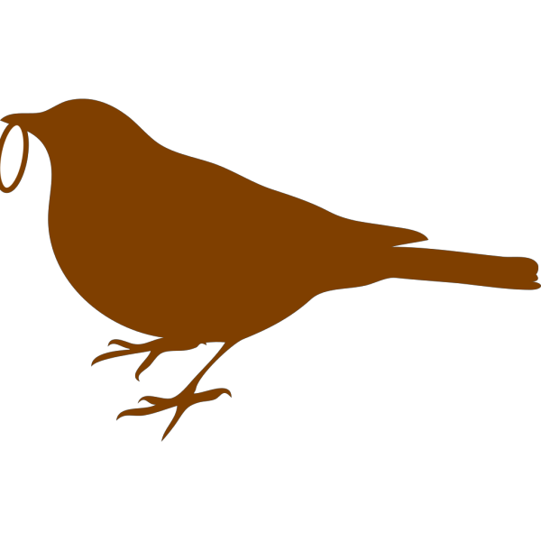 Bird With Ring PNG Clip art