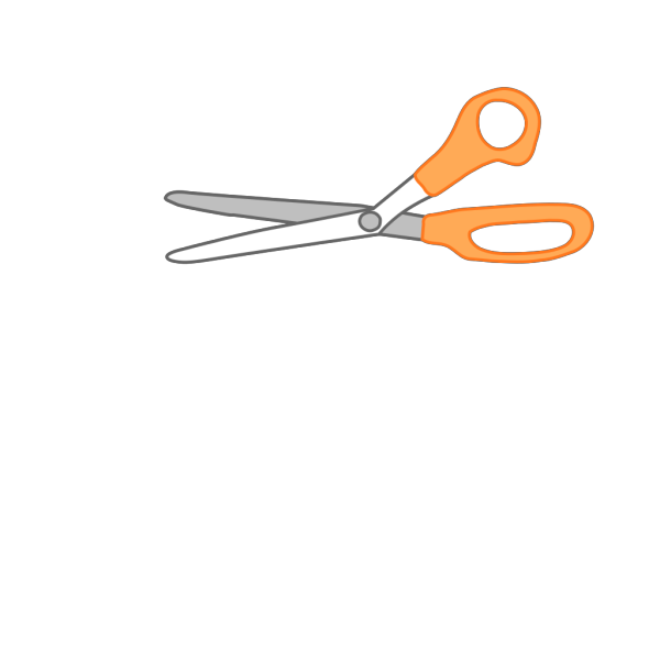 Artwork Paintbrush Scissors And Glue