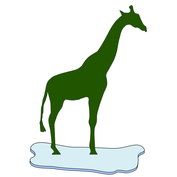 Giraffe On Ice PNG Clip art
