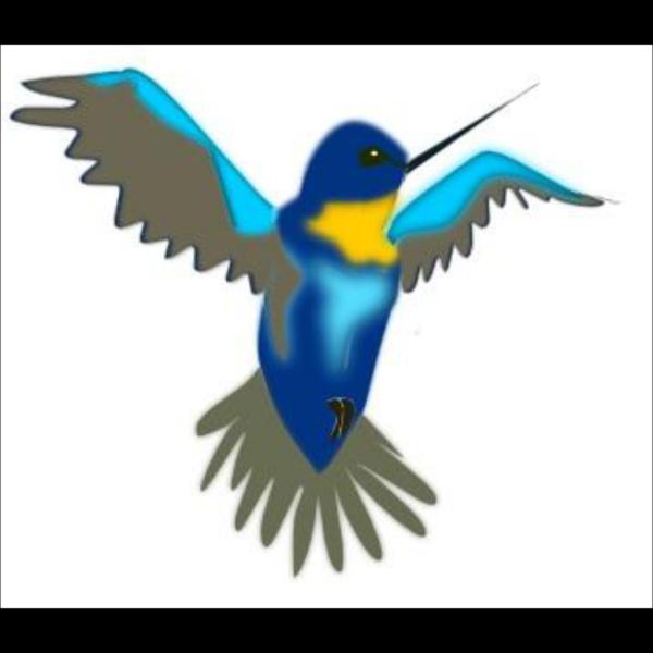 Hummingbird Burgundy PNG Clip art