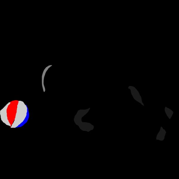 Dog Chasing Ball PNG Clip art