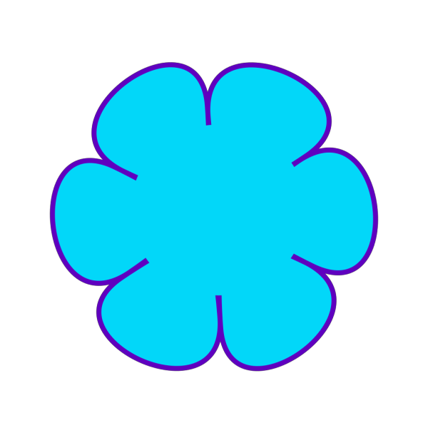 Blue Flower Purple PNG Clip art