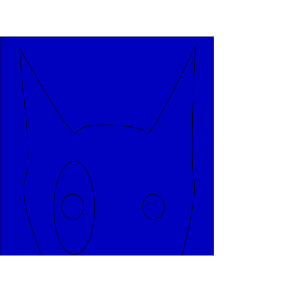 Blue Terrier Line Draw Face PNG icon