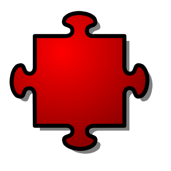 Jigsaw Red PNG images