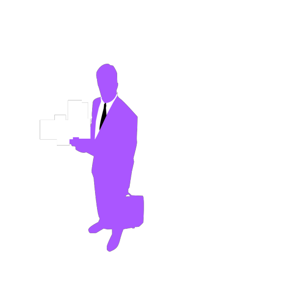 Standing Business Man Silhouette PNG images
