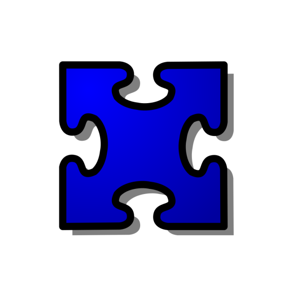 Jigsaw Blue PNG images